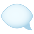 Left Speech Bubble on JoyPixels 6.5