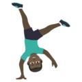 Man Cartwheeling: Dark Skin Tone on JoyPixels 6.5