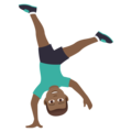 Man Cartwheeling: Medium-Dark Skin Tone on JoyPixels 6.5