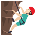 Man Climbing: Light Skin Tone on JoyPixels 6.5