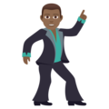 Man Dancing: Medium-Dark Skin Tone on JoyPixels 6.5