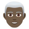 Man: Dark Skin Tone, White Hair on JoyPixels 6.5