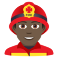 Man Firefighter: Dark Skin Tone on JoyPixels 6.5