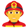 Man Firefighter on JoyPixels 6.5