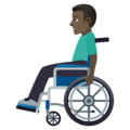 Man in Manual Wheelchair: Dark Skin Tone on JoyPixels 6.5