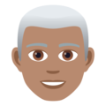 Man: Medium Skin Tone, White Hair on JoyPixels 6.5