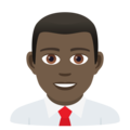 Man Office Worker: Dark Skin Tone on JoyPixels 6.5