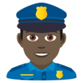 Man Police Officer: Dark Skin Tone on JoyPixels 6.5