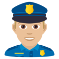 Man Police Officer: Medium-Light Skin Tone on JoyPixels 6.5