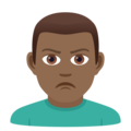 Man Pouting: Medium-Dark Skin Tone on JoyPixels 6.5