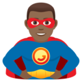 Man Superhero: Medium-Dark Skin Tone on JoyPixels 6.5