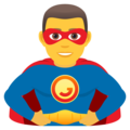 Man Superhero on JoyPixels 6.5