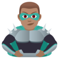 Man Supervillain: Medium Skin Tone on JoyPixels 6.5