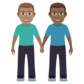 Men Holding Hands: Medium Skin Tone, Medium-Dark Skin Tone on JoyPixels 6.5