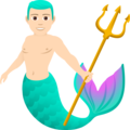 Merman: Light Skin Tone on JoyPixels 6.5