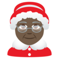 Mrs. Claus: Dark Skin Tone on JoyPixels 6.5