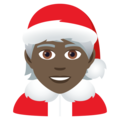 Mx Claus: Dark Skin Tone on JoyPixels 6.5