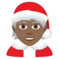 Mx Claus: Medium-Dark Skin Tone on JoyPixels 6.5