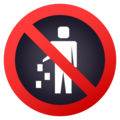 No Littering on JoyPixels 6.5