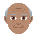 Old Man: Medium Skin Tone on JoyPixels 6.5