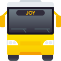 Oncoming Bus on JoyPixels 6.5