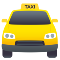 Oncoming Taxi on JoyPixels 6.5
