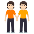 People Holding Hands: Light Skin Tone on JoyPixels 6.5