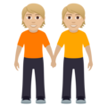 People Holding Hands: Medium-Light Skin Tone on JoyPixels 6.5