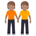 People Holding Hands: Medium Skin Tone on JoyPixels 6.5