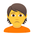 Person Frowning on JoyPixels 6.5