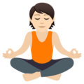 Person in Lotus Position: Light Skin Tone on JoyPixels 6.5