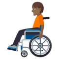 Person in Manual Wheelchair: Medium-Dark Skin Tone on JoyPixels 6.5