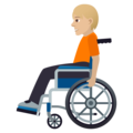 Person in Manual Wheelchair: Medium-Light Skin Tone on JoyPixels 6.5