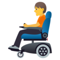 Person in Motorized Wheelchair on JoyPixels 6.5