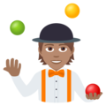 Person Juggling: Medium Skin Tone on JoyPixels 6.5