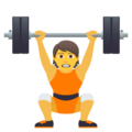 Person Lifting Weights on JoyPixels 6.5