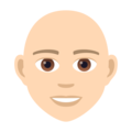 Person: Light Skin Tone, Bald on JoyPixels 6.5