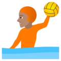 Person Playing Water Polo: Medium Skin Tone on JoyPixels 6.5