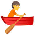 Person Rowing Boat on JoyPixels 6.5