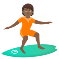 Person Surfing: Medium-Dark Skin Tone on JoyPixels 6.5