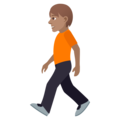 Person Walking: Medium Skin Tone on JoyPixels 6.5