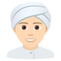 Person Wearing Turban: Light Skin Tone on JoyPixels 6.5