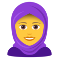 Woman with Headscarf on JoyPixels 6.5