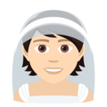 Person With Veil: Light Skin Tone on JoyPixels 6.5