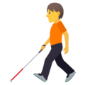 Person with White Cane on JoyPixels 6.5