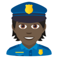 Police Officer: Dark Skin Tone on JoyPixels 6.5
