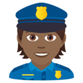 Police Officer: Medium-Dark Skin Tone on JoyPixels 6.5
