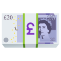Pound Banknote on JoyPixels 6.5