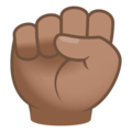 Raised Fist: Medium Skin Tone on JoyPixels 6.5