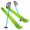 Skis on JoyPixels 6.5